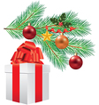 branche decorations gift vector image