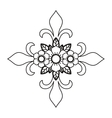 cross and flower tattoo isolated icon design vector image