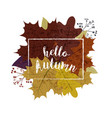 autumn season banner greeting card with vector image