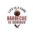 bbq emblem design summer barbecue logo vector image