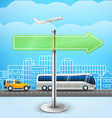 Blank glass arrow board City trafic Template for vector image