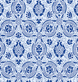 Blue lace Seamless abstract floral pattern vector image