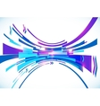 Blue perspective bow abstract background vector image vector image