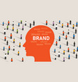 brand perception inside consumer head among vector image vector image