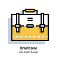 briefcase line color icon vector image