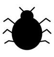 bug icon simple minimal 96x96 pictogram vector image vector image