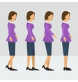 business woman walks four steps vector image vector image