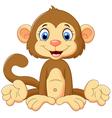 Cartoon cute monkey sitting vector image vector image