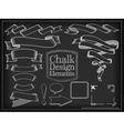 chalk design elements vector image vector image