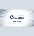 christmas blue background merry christmas wish vector image