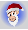Christmas monkey in hat vector image