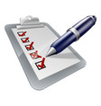 clipboard and pen icon vector image