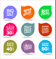 collection modern sale stickers and tags 5 vector image vector image