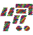 Colorful three-dimensional symbol vector image vector image