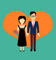 couple in love banner flat design vector image