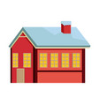 cute sweet ginger house food christmas vector image