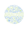 data management concept data analysis symbols in vector image vector image