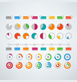different color infographic elements clipart vector image vector image