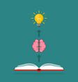emergence ideas brain vector image vector image
