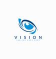 eye vision abstract logo design modern logo vector image vector image