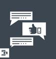 feedback glyph icon vector image