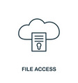 file access icon thin outline style design from vector image
