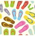 Flip flops white pattern vector image