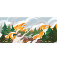 forest fire flat dangerous vector image