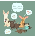 Funny Mixed Breed dogs with Speech Bubble vector image