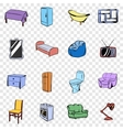 Furniture set icons vector image vector image