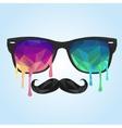 Glass polygon mustache polygon vector image vector image