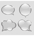 Glass Transparency Speech Bubble vector image vector image