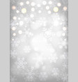 glowing snowflakes vector image vector image