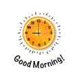 good morning banner with orange vector image vector image