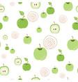 green apple pattern seamless organic nature vector image vector image