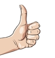 hand with like sign vector image vector image