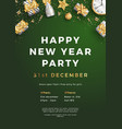 happy new year party layout poster poster or flyer vector image vector image
