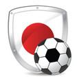 japan shield soccer vector image vector image