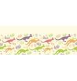 jumping kangaroo horizontal seamless pattern vector image