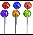lollipops vector image