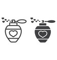 love perfume with hearts line and glyph icon vector image