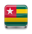 Metal icon of Togo vector image vector image