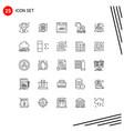 modern set 25 lines pictograph china trojan vector image vector image