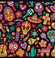 motley seamless pattern with traditional mexican vector image vector image
