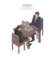 office bribery concept background isometric style vector image vector image