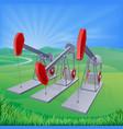 oil well pumpjacks vector image