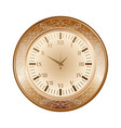 old brown watch vector image vector image