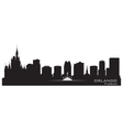 Orlando Florida skyline Detailed city silhouette vector image