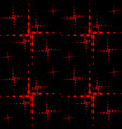pattern of the red crosses vector image vector image