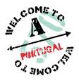 Portugal stamp rubber grunge vector image vector image